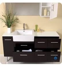 Bathroom Vanity With Side Cabinet Fresca Fvn6143es Serio 56
