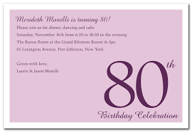 Birthday Invitation Words Words For 80th Birthday Card Pacq Co