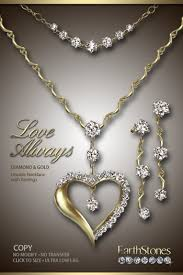 set diamond second marketplace diamond heart necklace by earthstones