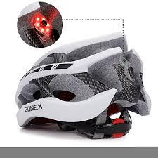 Motorcycle Helmet Lights Gonex Bike Helmet Cycling Road Mountain Helmet With Safety