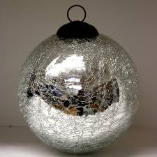 silver sparkle crackle glass baubles ten and a half thousand things