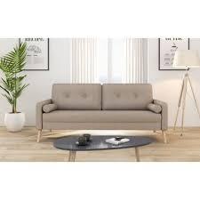 canap klobo 179 01 sur canapé droit 3 places tissu beige zephyr achat prix
