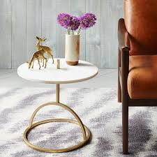 west elm marble coffee table modernist handle nesting side table marble west elm family room