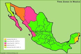 Cabo San Lucas Mexico Map by Mexico Time Zones Map