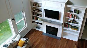 bookshelves living room living room built ins tutorial cost decor and the dog