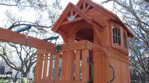 backyard discovery liberty ii all cedar swing set demo video of