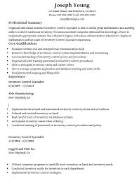 Database Specialist Resume 16 Free Sample Inventory Control Specialist Resumes U2013 Sample