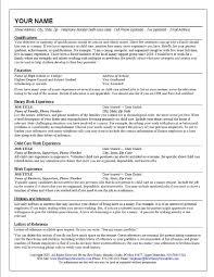 professional nanny resume sample gallery creawizard com