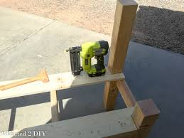 Knock Down Shooting Bench Plans Rustic Tailgate Bench Tutorial Addicted 2 Diy
