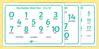How To Count Number Of Words In Word Document Numbers And Words 0 20 Word Mat Numbers Word Word Mat 0 10