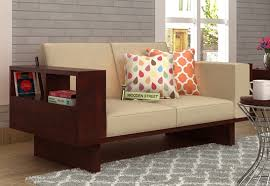 Seater Sofa  Buy Two Seater Sofa Online Upto  Off  WoodenStreet - Wooden sofa designs for drawing room