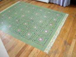 Hardwood Floor Rug How To Paint A Rug On Your Floor In My Own Style