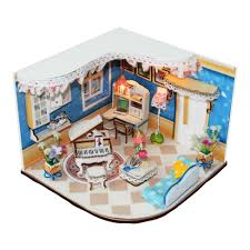 Model House Plans Sweet Home Wooded Doll House Plan Toy Model Building Diy House
