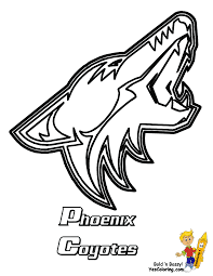 free coloring pages nhl phoenix coyotes hockey birthday