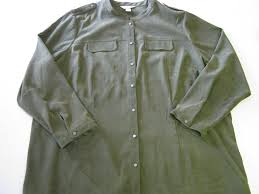 tall ls for sale cj banks jacket 3x green button front ls long sleeve womens men s