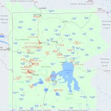 Map Of Utah Parks by Map Of Yellowstone National Park Wyoming