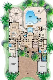 mediterranean style house plan 5 beds 6 00 baths 6718 sq ft plan