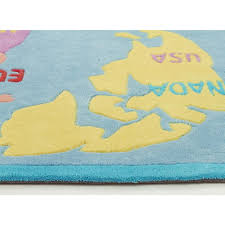 world map blue kids floor rugs free shipping australia wide also