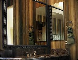 modern black frame mirror for trendy looks large framed bathroom