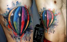 air balloon with wings tattoomagz