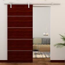 Barn Door Track System Home Depot by Quiet Glide Stainless Steel Face Mount Hardware Kit Hayneedle