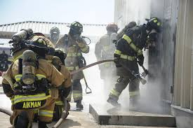 side by side d m local firefighters train together u003e davis