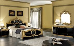 barocco black u0026 gold two tone bedroom w optional case goods