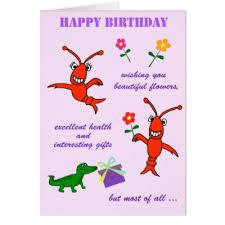 cajun party supplies cajun crawfish happy birthday card zazzle