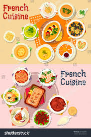 french cuisine national dishes seafood stew stock vector 521562880