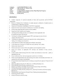 Resume For All Jobs by Resume For Qc Inspector