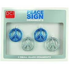 set of six 6 beautiful 3 metal peace sign