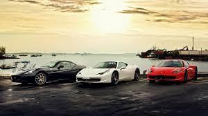 Ferrari 458 Black And White - sunset red white ferrari 458 italia ferrari california