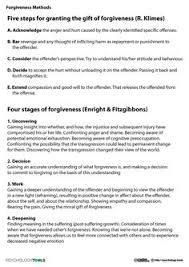 forgiveness quotes cbt worksheet psychology tools psych 101