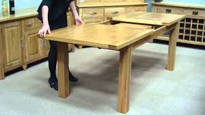 Table With Slide Out Leaves How To Extend A Middle Extension Table Youtube