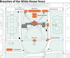 36 breaches of the white house perimeter mapped the washington post
