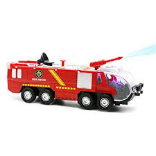 go lights for trucks amazon com fire truck toy netcosy squad water cannon bump and go