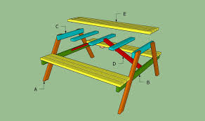 Free Plans For Building A Picnic Table by How To Build A Wooden Picnic Table Howtospecialist How To