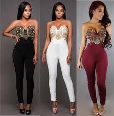 clubbing clothes jumpsuits shoulder women clubbing wear jumpsuits