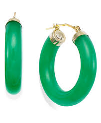 green earrings jade hoop earrings in 14k gold 27 1 2mm earrings jewelry