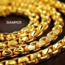best gold chain necklace images 24 inch 4mm 22k 24k thai baht yellow gold plated box chain jpg