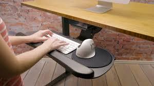 keyboard mount for desk uplift desk keyboard trays youtube