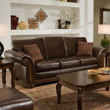 cherry brown leather sofa living room artistic picture of living room decoration using