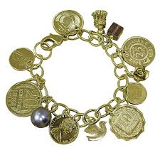 charm you bracelet images Gold layered foreign coins charm bracelet coin jewelry signals jpg