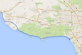 Ojai California Map Pacific Coast Highway In Malibu Driving Highway One