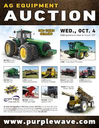 wednesday october 4 ag equipment auction purplewave inc