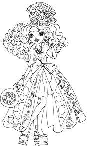 free printable ever after high coloring pages madeline hatter way