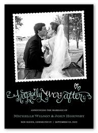 wedding announcements happily after 5x7 stationery card wedding announcements