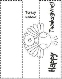 turkey headband template thanksgiving turkey activities and