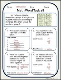 multi step word problems math stories worksheets grade 2 3 tpt