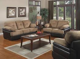 Livingroom Furniture Set by Living Room Brown Sets Fabric And Leather Eiforces